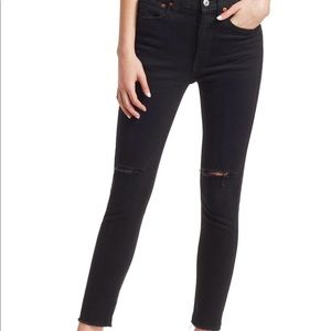 RE/DONE black ankle crop jeans